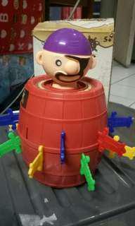 pirate barrel running man