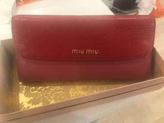 authentic miumiu wallet