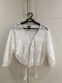 Forever 21 Whitt Embroidered Top