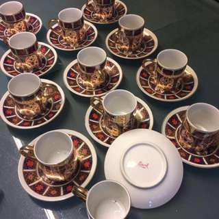 BN Fine China Porcelain cups and saucers 12 pcs ea