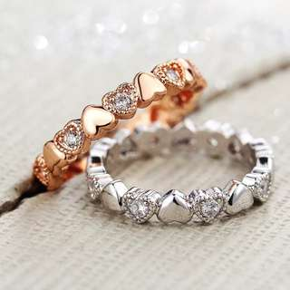 Endless Heart Ring (silver/rose gold)
