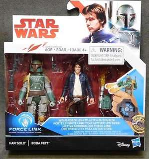 Boba Fett Han Solo 3.75 3 3/4 Inch Action Figure Star Wars Force Link
