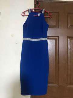 Elegant Electric Blue Formal Dress
