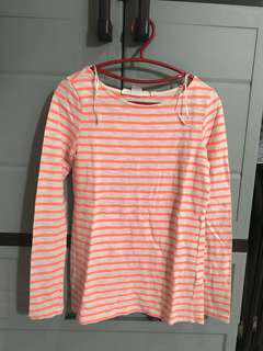 H&M orange and white stripes long sleevs