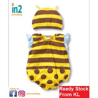 (Free Delivery) Newborn Baby Boy Girl Infant Animal Romper Cute Bee Jumpsuit Bodysuit Outfit Clothes