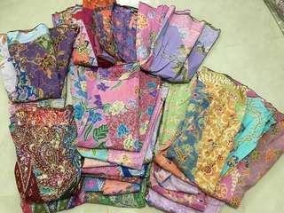 Mixed batik multi coloured batik A line skirt - slimming effect