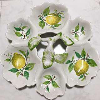 Lemon Basil Serving Platter-Made Of Porcelain
