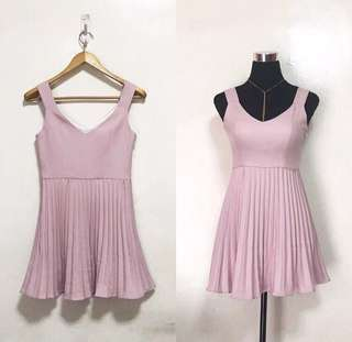 Old Rose pleated dress