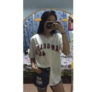 Unisex white Angels baseball jersey