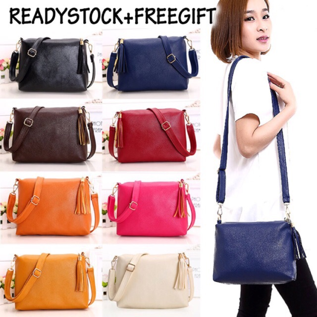 8a5a434c205 Ladies Handbag Shoulder Sling Bag Beg Travel Women Bags PU, Women s Fashion,  Bags   Wallets on Carousell