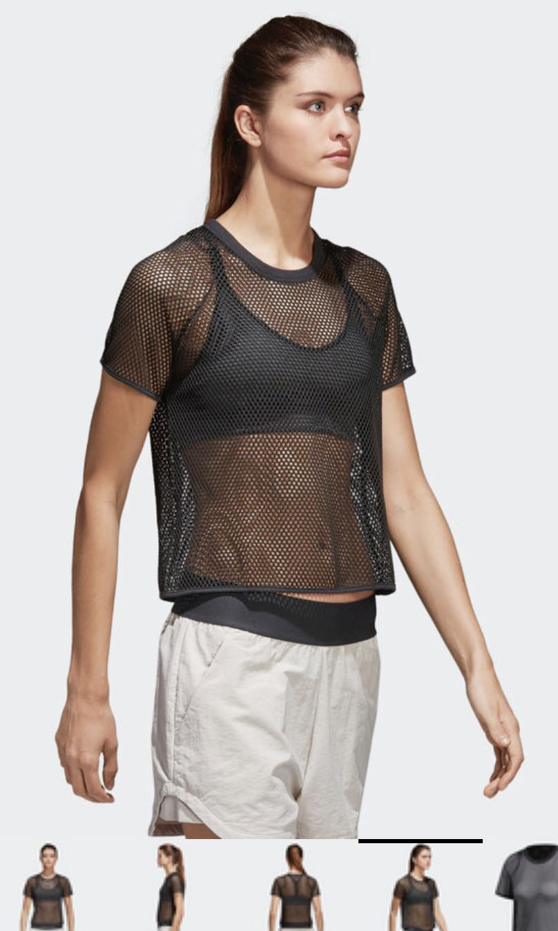 8537cea9f ADIDAS ID MESH CROP TOP, Women's Fashion, Clothes, Tops on Carousell