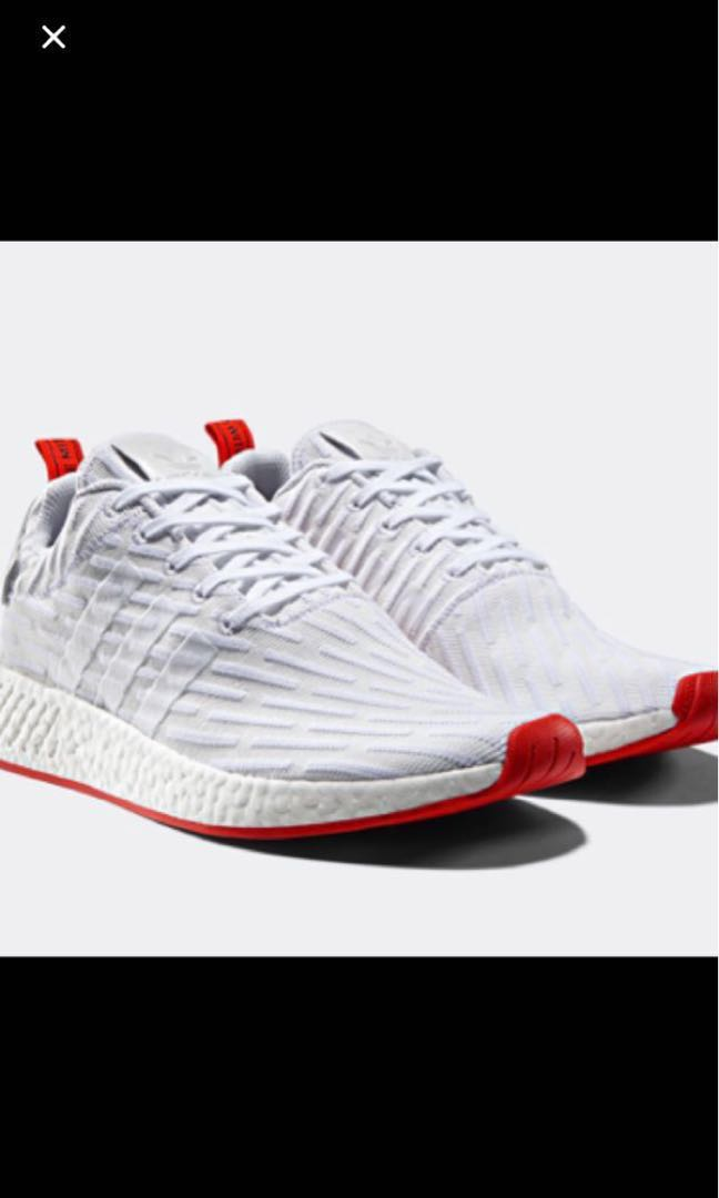 39fc657c4 Adidas NMD R2 PK white red