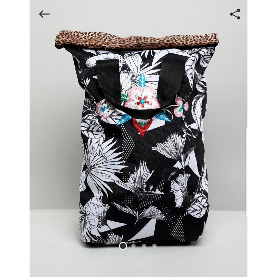 Adidas Originals Roll Top Floral Backpack, Women s Fashion, Bags   Wallets,  Backpacks on Carousell e4d5efa3af