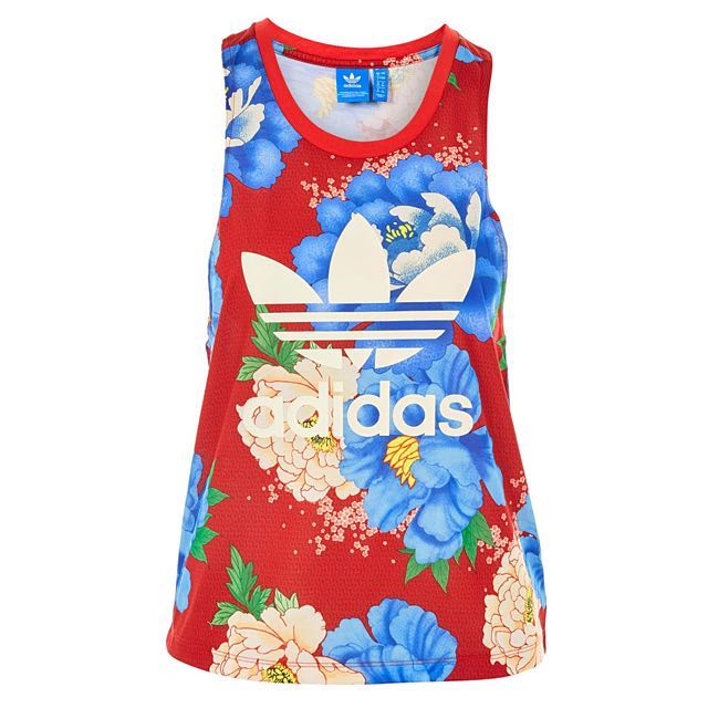73537cafc18 Adidas Red Floral Sleeveless Sports TOP (BNWT), Women's Fashion ...