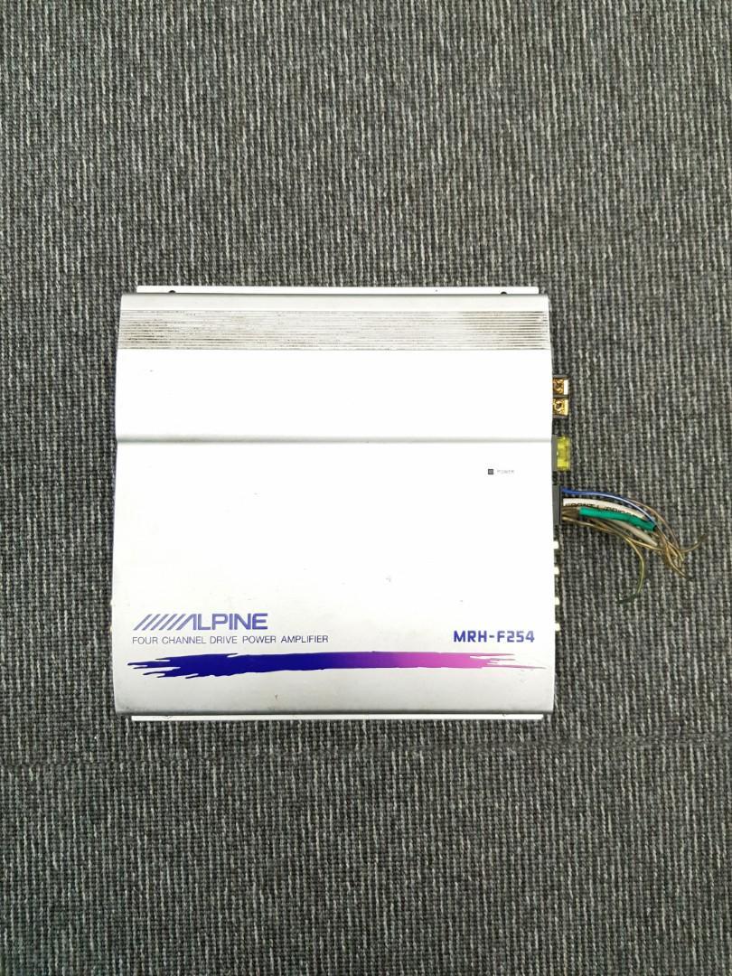 Alpine MRH-F254 four channel drive power amplifier, Car