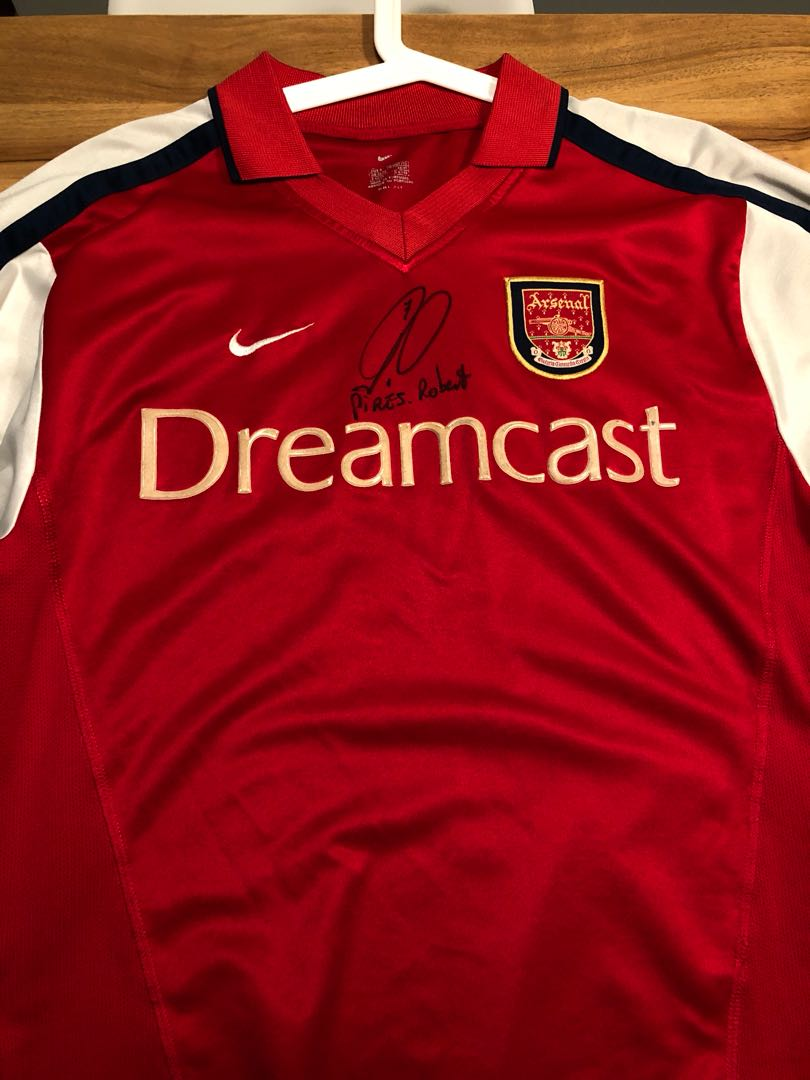 84bb79dbfed Arsenal jersey signed by Robert Pires, Sports, Sports Apparel on ...