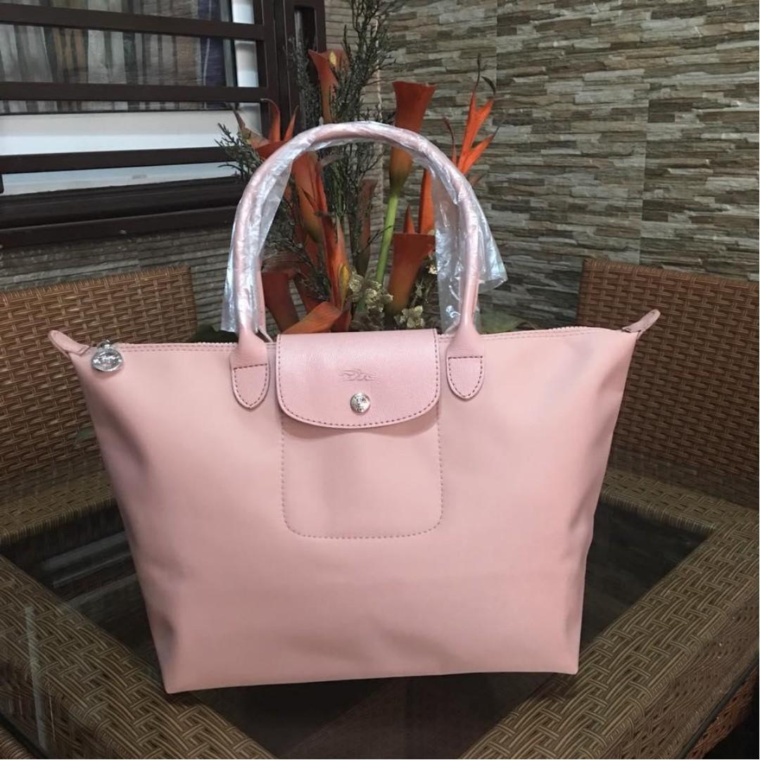 Authentic Original Longchamp Planets Neo Tote Bag Long Handle Shoulder Bag  Medium Size Women s Bag LIGHT PINK 5f5c800e59f7a