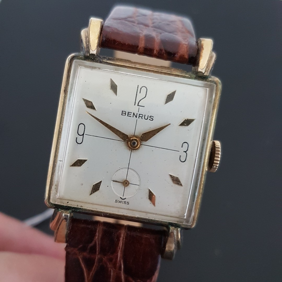 c64c6f6eb Benrus 10k Rolled Gold Vintage Watch, Luxury, Watches on Carousell