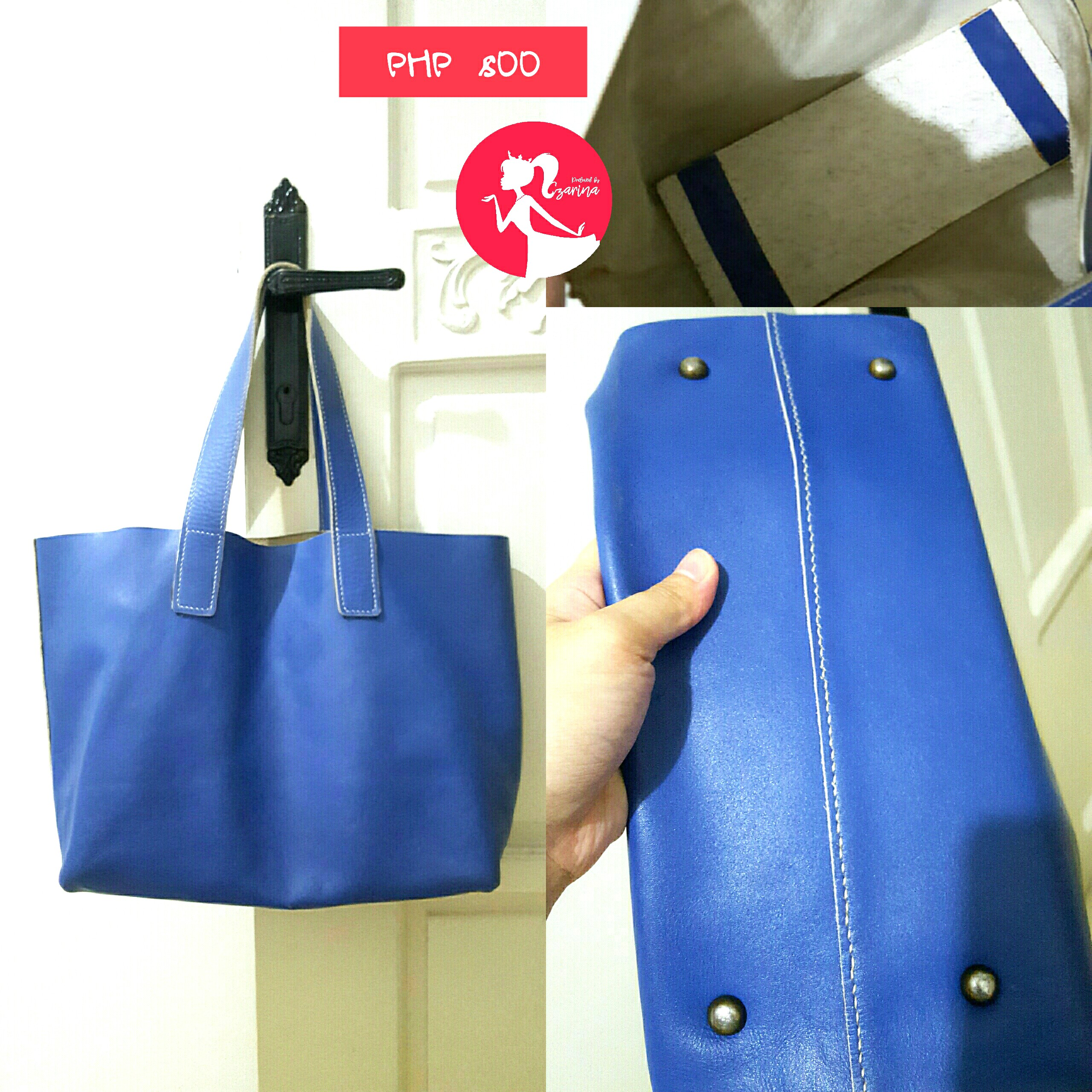 ce2cdc1804 BLUE LEATHER TOTE BAG