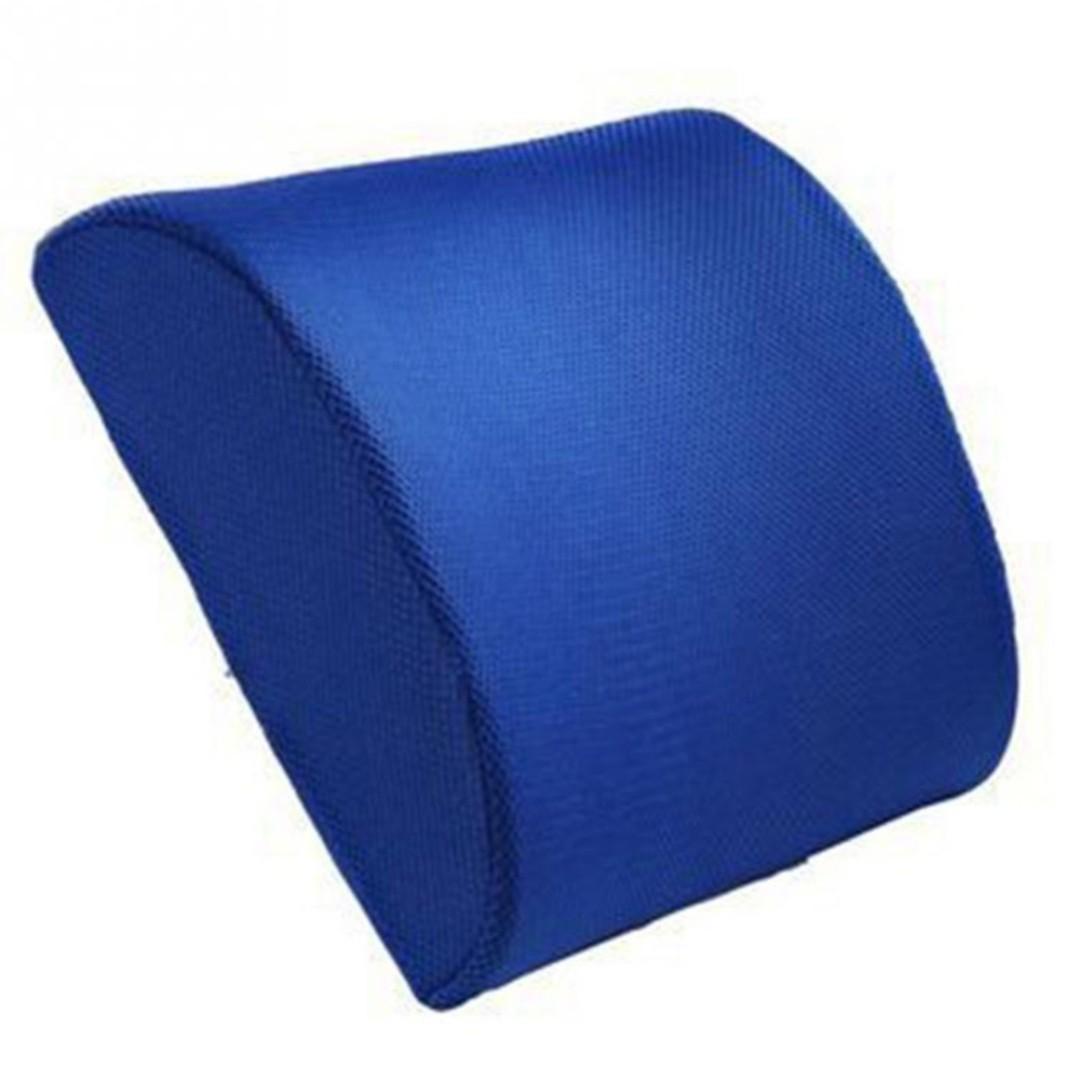 Bn Blue Memory Foam Lumbar Back Support Cushion Pillow Furniture