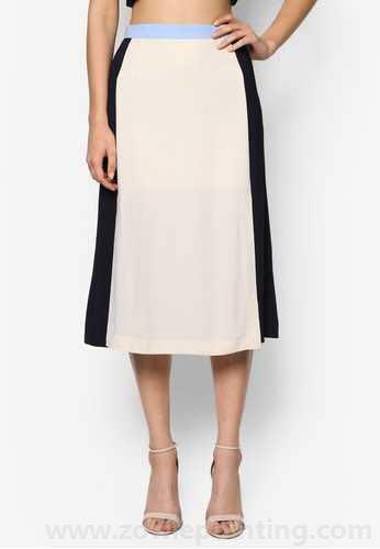 BYSI contrast colour skirt