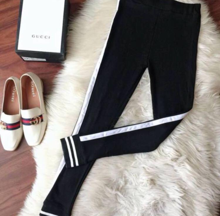 Celana Legging List Bahan Scuba Premium Fesyen Wanita Pakaian Wanita Bawahan Di Carousell