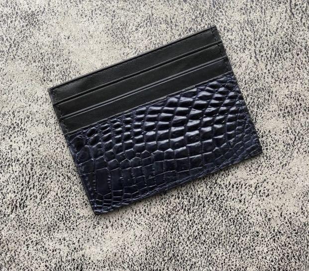 0db92274c15 Crocodile skin card holder