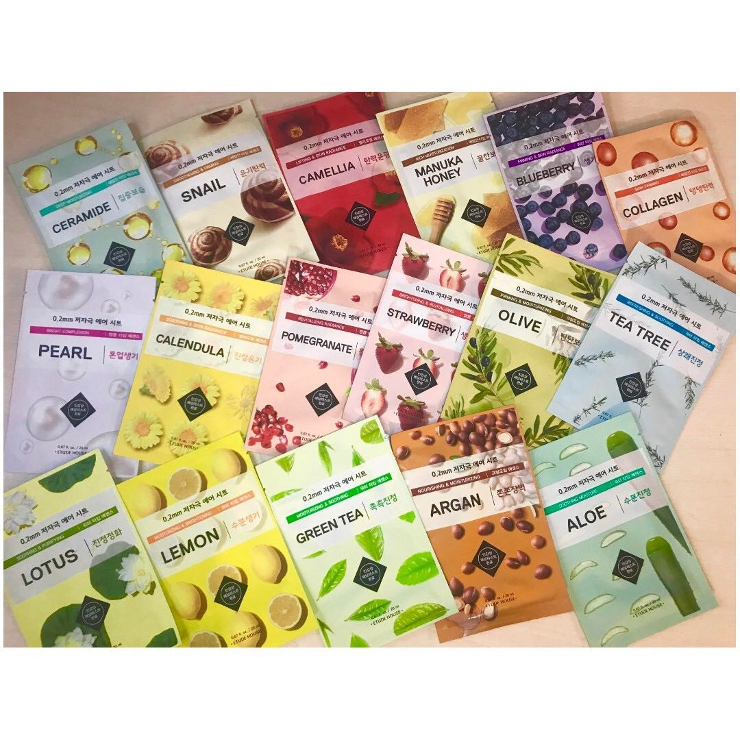 Etude House 02 Air Therapy Mask Health Beauty Face Skin Care 3 Pcs On Carousell