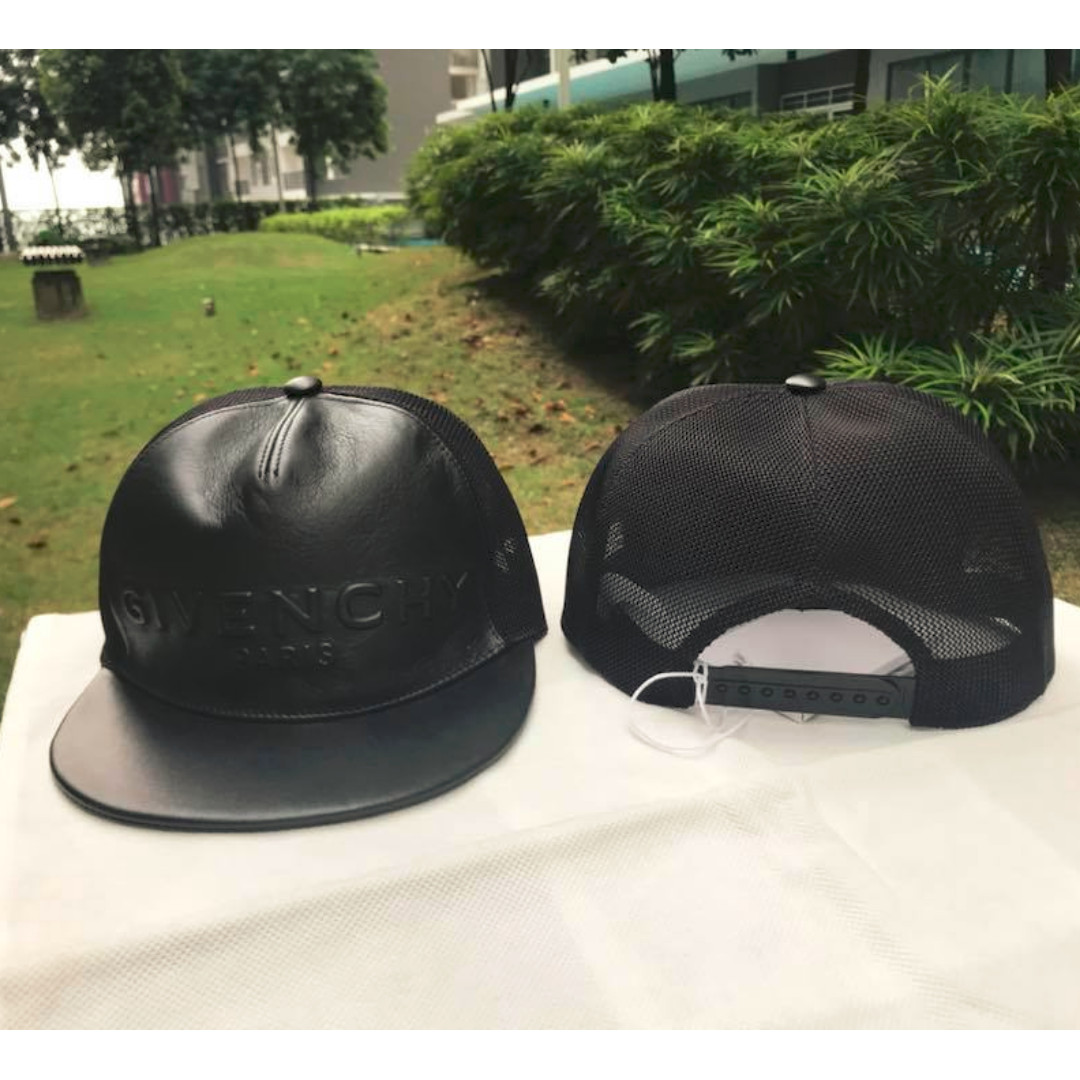 Givenchy Paris Black Leather Cap 953a17c1572
