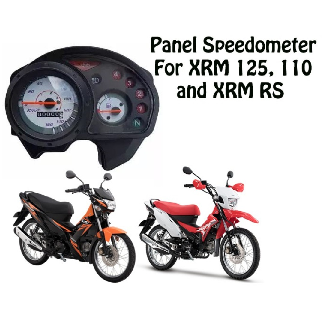 Honda xrm rs 125 and xrm 110 speedometer gauge panel assembly car parts accessories on carousell