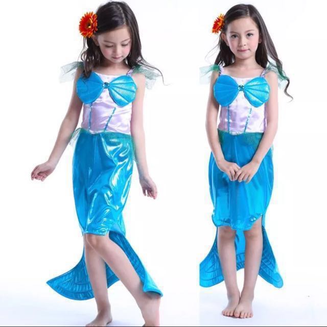 In Stock Little Mermaid Cosplay Halloween Birthday Party Dress Up Costume Dress