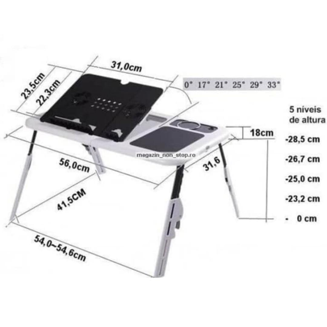 Meja Laptop Portable E Table T04 Multifunction Putih Elektronik Lainnya Di Carousell