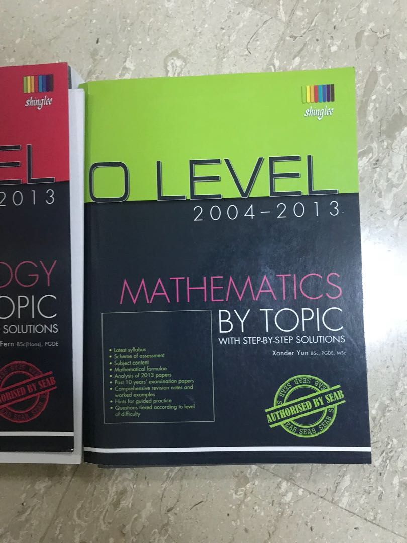 O level TYS 2004 - 2013 for mathematics chemistry and biology