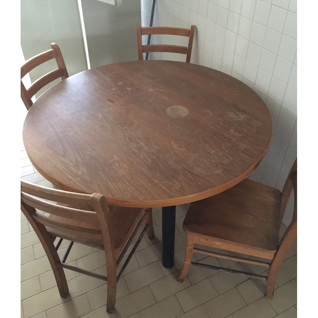 Round Dining Table And 4 Chairs Furniture Tables On Carousell