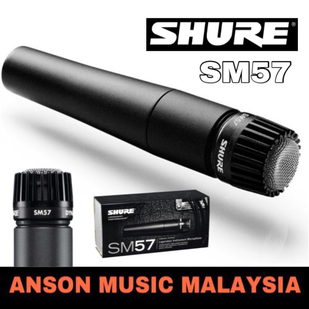 Shure Sm57 Dynamic Instrument Microphone Electronics Audio Di Mic Instrumen Carousell