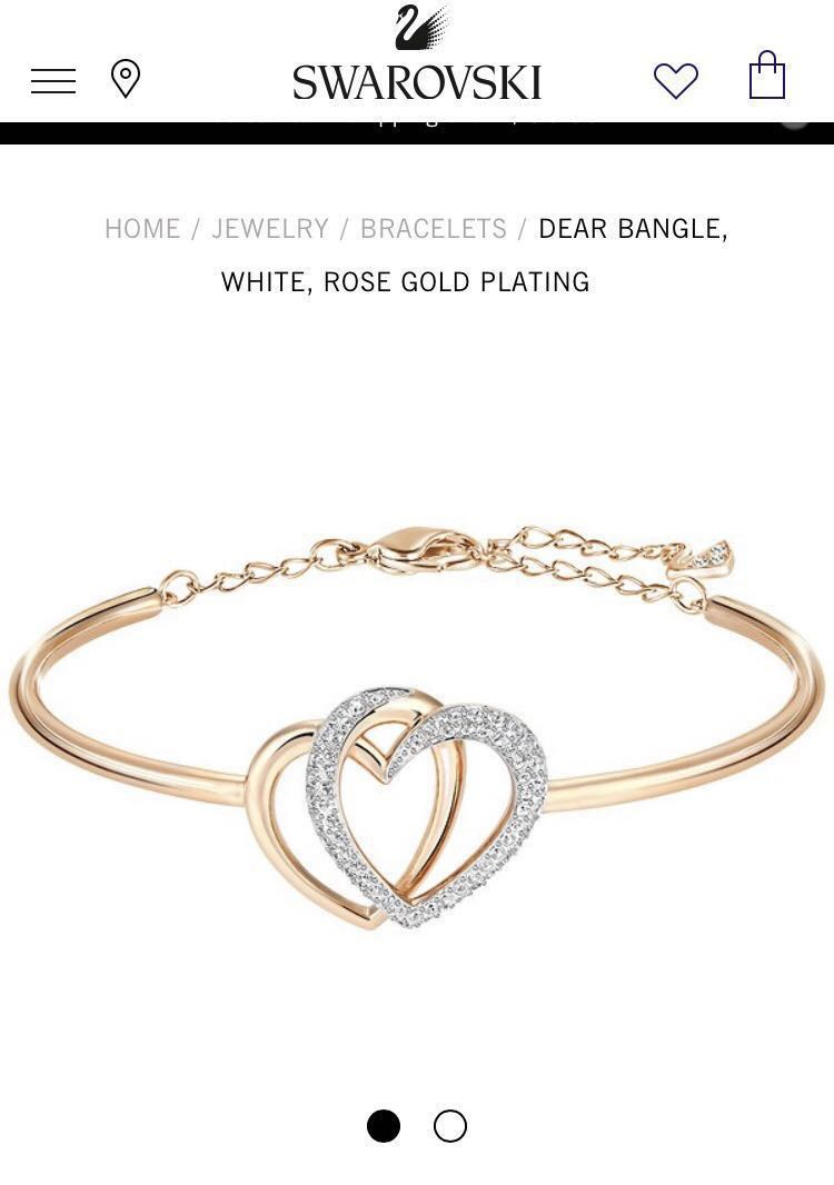 c0abbf380 Swarovski Dear Bangle Rose gold/Silver, Women's Fashion, Jewellery ...