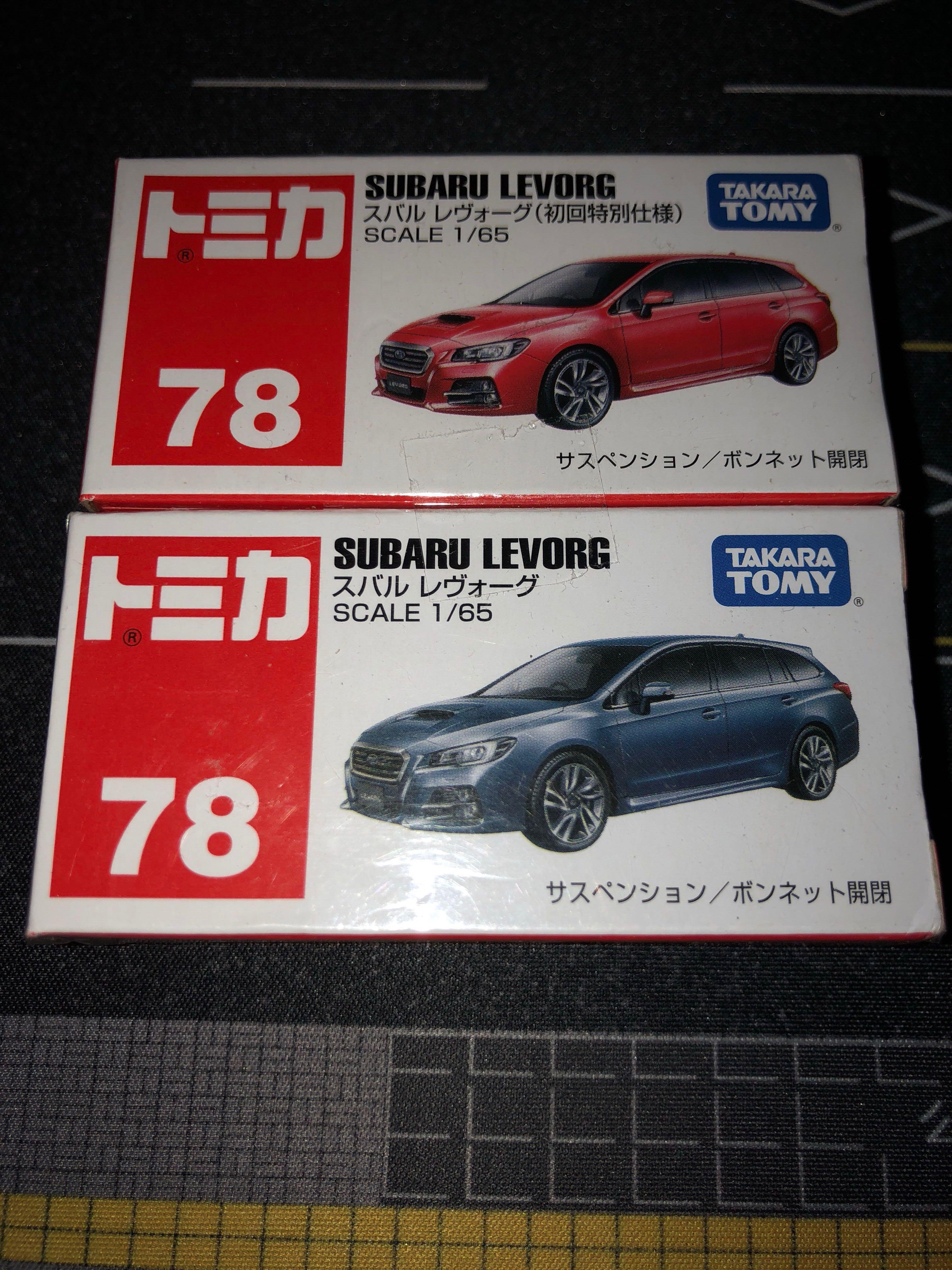 Tomica 78 Tomy Subaru Levorg 初回限定 及普通 全新未拆