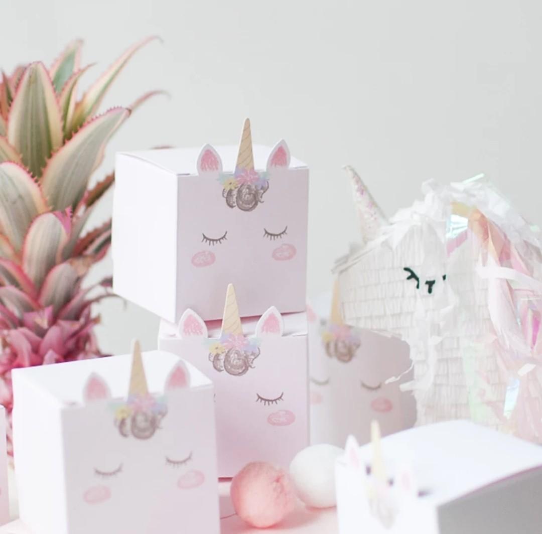 Unicorn Goody Bag Box / Unicorn Gift Box / Unicorn Party