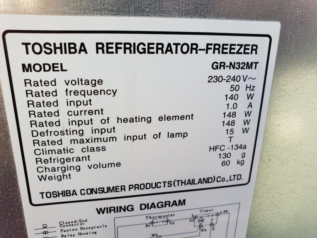 Used toshiba 2 door fridge refrigerator peti sejuk peti ais in good share this listing asfbconference2016 Gallery
