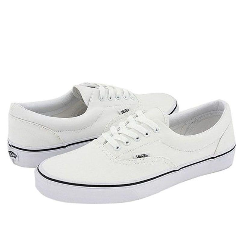 Vans Era White Shoes, Men's Fashion, Footwear, Sneakers on Carousell
