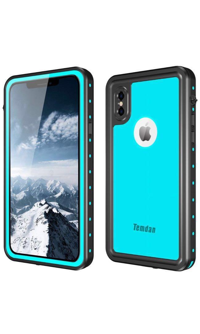 online store d6d54 cd344 Wkend Deal: Temdan Waterproof case for Iphone X Teal