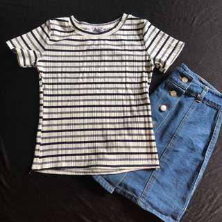 CLEARANCE | Striped top