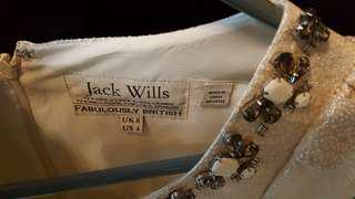 Beautiful only used once Jack wills gold dress