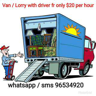 🚚 Only $20 for van / $30 for 10 ft open lorry / $40 for boxed 10 ft lorry. Trolley included. Movers.