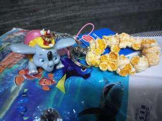 日本東京迪士尼 小飛象爆米花 吊飾/鑰匙圈