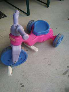 Pink Ride On Tricycle Adjustable Seat