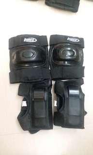 單車護膝套裝4件_