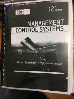 Management control systems 12th edition