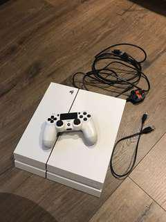 純白PS4 500GB 齊線
