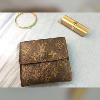 Louis Vuitton Elise Compact Wallet Tri Fold Monogram Coin Purse Canvas Vintage Authentic  🛑SUPER SALE🛑